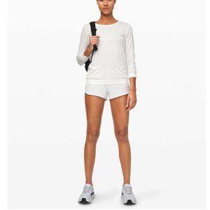 """Lululemon Speed Up Shorts 2.5"""" *Linerless White 6"""